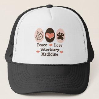 Casquette de médecine vétérinaire d'amour de paix