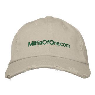 casquette de MilitiaOfOne.com Casquette Brodée