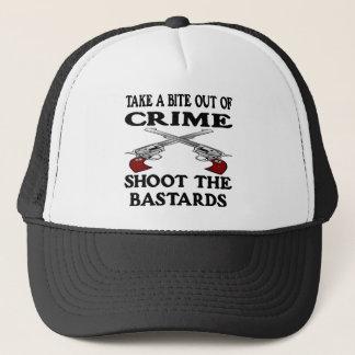 Casquette De morsure bâtards blancs de crime