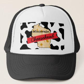 Casquette de motif de vache au Wisconsin