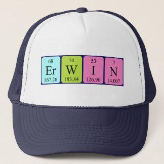 Casquette de nom de table périodique d'Erwin