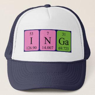 Casquette de nom de table périodique d'Inga