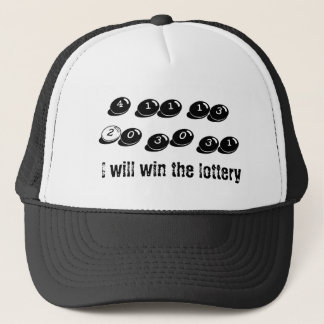 Casquette de nombre de loterie