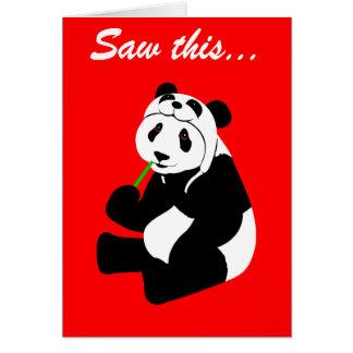 Casquette de panda (anniversaire) carte de vœux