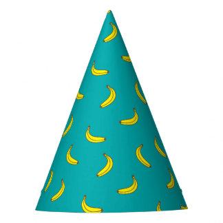Casquette de partie de motif de banane chapeaux de fètes