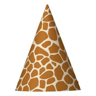 Casquette de partie d'impression de girafe chapeaux de fètes