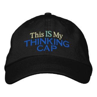 Casquette de pensée casquette brodée
