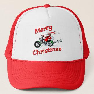 Casquette de Père Noël de moto