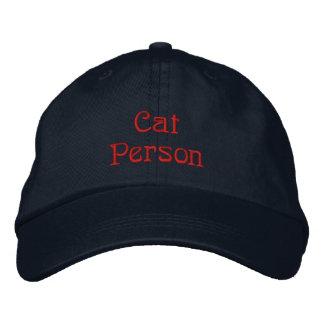 Casquette de personne de chat