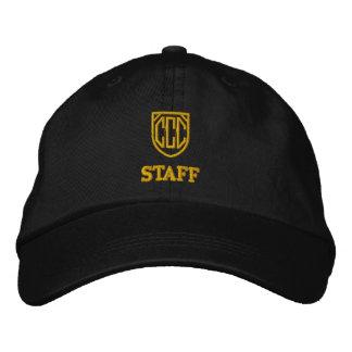 Casquette de personnel de club de chat de cercle casquette brodée