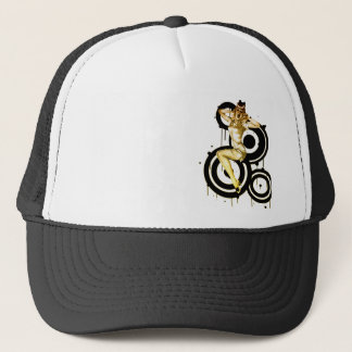 Casquette de pin-up criard