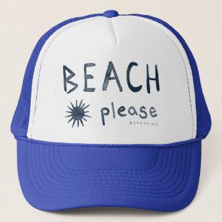Casquette De PLAGE citation pour la plage d'aquarelle SVP