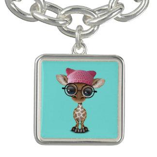 Casquette de port de chat de girafe mignonne de bracelets avec breloques