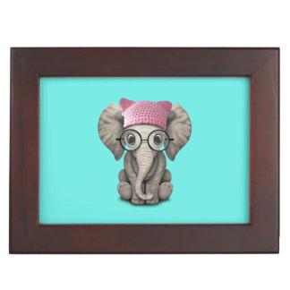 Casquette de port de chat d'éléphant mignon de boîte à souvenirs