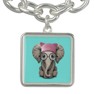 Casquette de port de chat d'éléphant mignon de bracelets avec breloques