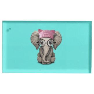 Casquette de port de chat d'éléphant mignon de porte-cartes de placement