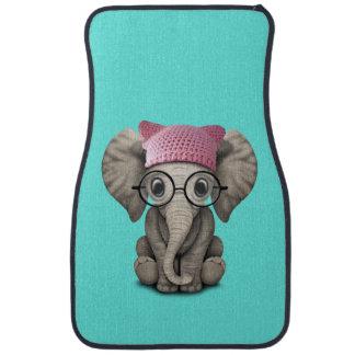 Casquette de port de chat d'éléphant mignon de tapis de voiture