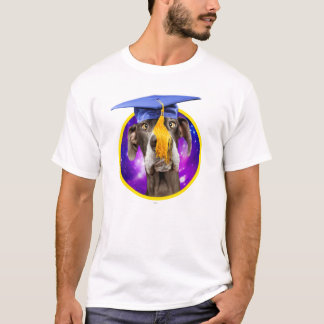 Casquette de port de chien drôle d'obtention du t-shirt