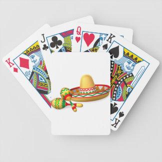 Casquette de sombrero et dispositifs trembleurs jeux de cartes