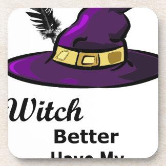 casquette de sorcière dessous-de-verre