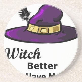 casquette de sorcière dessous de verre en grès
