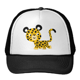 Casquette de sourire de léopard de bande dessinée