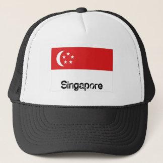 Casquette de souvenir de drapeau de Singapour