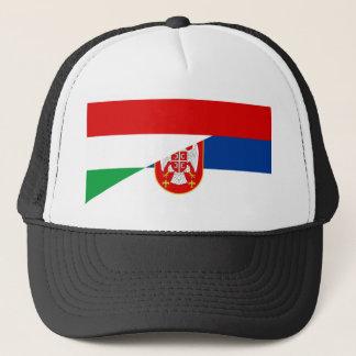 Casquette de symbole de pays de drapeau de la Hongrie Serbie