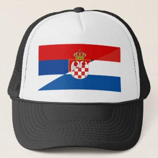 Casquette de symbole de pays de drapeau de la Serbie Croatie