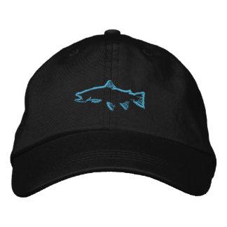 Casquette de traqueur de truite - bleu casquette brodée