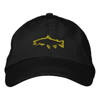 Casquette de traqueur de truite - jaune casquette brodée