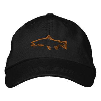 Casquette de traqueur de truite - noir casquette brodée