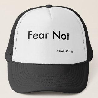 Casquette de vers de bible de crainte pas
