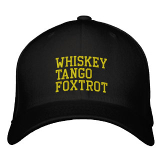 Casquette de WhiskeyTangoFoxtrot (version Casquette Brodée