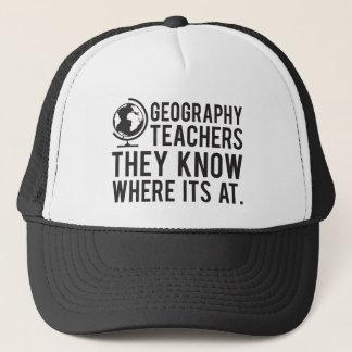 Casquette Des professeurs de géographie, ils savent à où il
