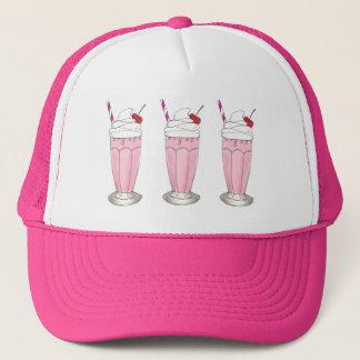 Casquette Dessert rose de milkshake de secousse de crème