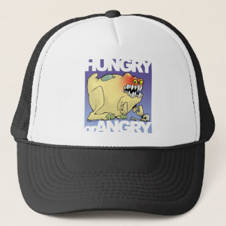 Casquette dessin humoristique, monster-hungry-OR-angry