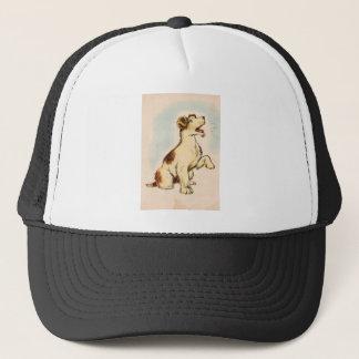Casquette Dessin vintage de chien d'écorcement