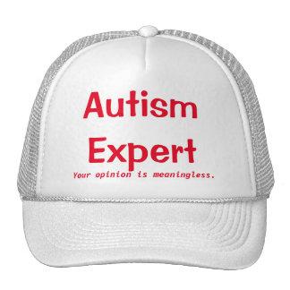 Casquette d'expert en matière d'autisme