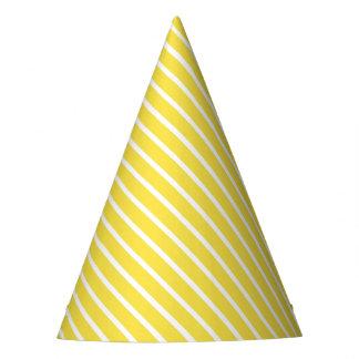 Casquette diagonal jaune de partie de rayure de chapeaux de fètes