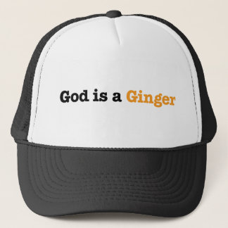 Casquette Dieu est un gingembre
