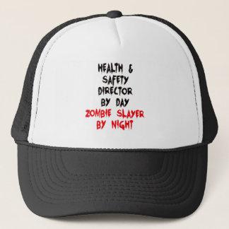Casquette Directeur de santé et sécurité de tueur de zombi