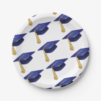Casquette d'obtention du diplôme assiettes en papier