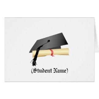 Casquette d'obtention du diplôme et diplôme, cartes