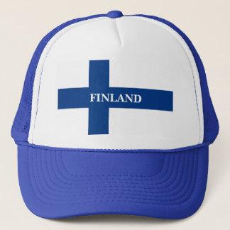 Casquette Drapeau de la Finlande Suomi croisé bleu
