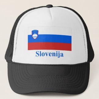 Casquette Drapeau de la Slovénie avec le nom dans le Slovène