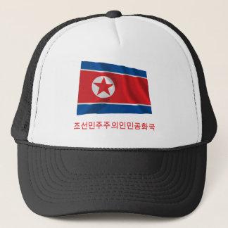 Casquette Drapeau de ondulation de la Corée du Nord avec le