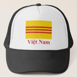 Casquette Drapeau du Vietnam du Sud avec le nom dans le