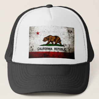 Casquette Drapeau grunge noir d'état de la Californie