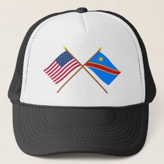 Casquette Drapeaux croisés de République Democratic des USA